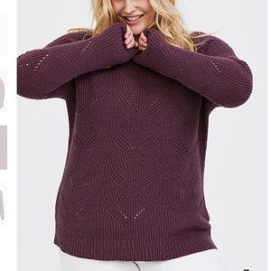 Torrid Purple Wine Pointelle Pullover Sweater